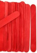 100 Wood Jumbo Craft Sticks Red Colour