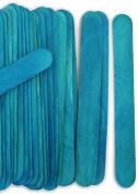 100 Wood Jumbo Craft Sticks Blue Colour