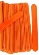 100 Wood Jumbo Craft Sticks Orange Colour