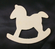 Unfinished Wooden Rocking Horse Cutout