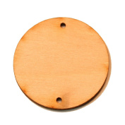 26 - Circle Cutout - 3/4 x 1/8 inch with 2 1mm holes unfinished wood