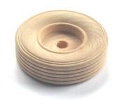 12 Wood 7cm Treaded Toy Wheels W/3/8 Hole