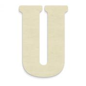 """UNFINISHEDWOODCO Oversized Unfinished Wood Letters, 46cm , """"U"""""""