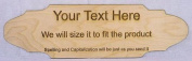 Your message, Laser Engraved Baltic birch plywood, 60cm long by 18cm tall wooden sign.