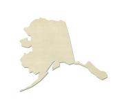 """UNFINISHEDWOODCO Unfinished State Wood Cutouts, """"Alaska"""""""