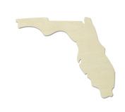 "UNFINISHEDWOODCO Unfinished State Wood Cutouts, ""Florida"""