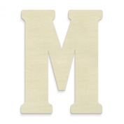 UNFINISHEDWOODCO 60cm Unfinished Wood Letter, Large, Letter M