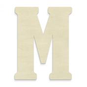UNFINISHEDWOODCO 60cm Unfinished Wood Letter, Large, Letter M