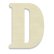 UNFINISHEDWOODCO 60cm Unfinished Wood Letter, Large, Letter D