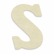 UNFINISHEDWOODCO 60cm Unfinished Wood Letter, Large, Letter S