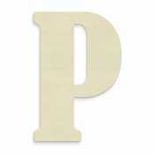 UNFINISHEDWOODCO 60cm Unfinished Wood Letter, Large, Letter P