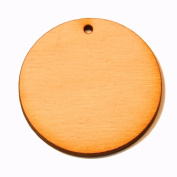 50 - Circle Cutout - 2 x 1/8 inch with 1 2mm hole unfinished wood