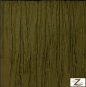 MANI CRINKLED TAFFETA FABRIC - OLIVE - 140cm WIDTH - SOLD BTY