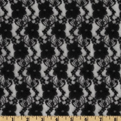 Giselle Stretch Floral Lace Black Fabric