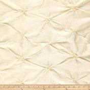 Rosette Iridescent Taffeta Ivory Fabric