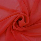Red Solid Hi-Multi Chiffon Washed