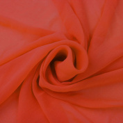 Orange Solid Hi-Multi Chiffon Washed