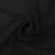 Black Solid Hi-Multi Chiffon Washed