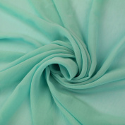 Aqua Solid Hi-Multi Chiffon Washed