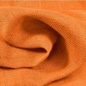 100cm Wide Orange 100% Jute Burlap Fabric By the Yard