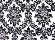 Damask Flocked Taffeta Fabric Colour White, Sold By the Yard