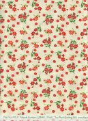 Yolanda Fundora Urban Amish Bold Little Poppies Quilt Fabric Blank Quilting 6392 Ivory Positively Poppies Quilt Fabric 100% Cotton 110cm Wide - HALF YARD