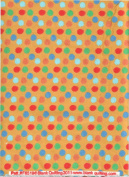 Lots of Dots Print Flannel Quilt Fabric ~ HALF YARD ~ Red, Orange, Green, Blue Dots on Golden Yellow Starlight Flannel by Blank Quilting #F6519 Yellow ~ Flannel Quilt Fabric 100% Cotton 2.5cm Wide