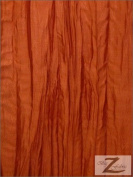 CRUSHED TAFFETA FABRIC - ORANGE - 130cm WIDTH - SOLD BTY