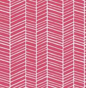 True Colours - Herringbone - Pink By Joel Dewberry for FreeSpirit Half Yard