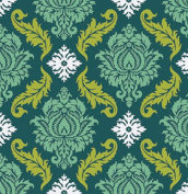 True Colours - Damask - Turquoise By Joel Dewberry for FreeSpirit Half Yard
