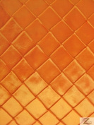 chequered TAFFETA FABRIC - Orange - 150cm WIDTH SOLD BTY PINTUCK
