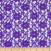 Raschel Lace Purple Fabric