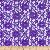 Raschel Lace Purple Fabric