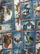 ANIMAL POLAR FLEECE FABRIC - Native Animals - 150cm WIDTH SOLD BTY