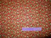 110cm Wide Thimbleberries Poinsettia Cotton Fabric BY THE HALF YARD