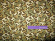 110cm Wide Duck Dynasty Camo Brown Cotton Fabric BY THE HALF YARD
