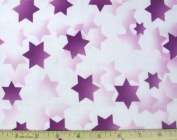 Stars of Light Jewish Fabric - Purple