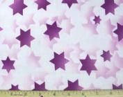 Stars of Light Jewish Fabric - Purple