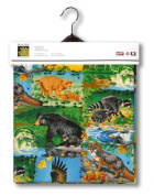 American Wildlife Lined Fabric 1yd by 140cm Wide 100% Cotton Material Lined on Underside For Sewing Projects like Tablecloths, Tablecovers, Aprons - Top Rated Quality 22% more FABRIC than 110cm width