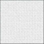 Zweigart 14Ct Aida-46cm X 50cm Needlework Fabric - White