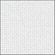 Zweigart 14Ct Aida-46cm X 50cm Needlework Fabric - White