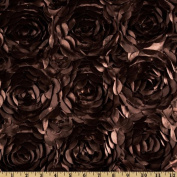 Lescada Satin Ribbon Rosette Chocolate Fabric