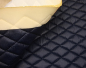 Navy Quilted Vinyl Fabric with 1cm Foam Backing Upholstery