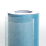 Koyal Wholesale 25-Yard Sheer Organza Fabric Roll, 15cm , Light Blue