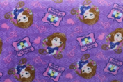 Princess Sofia Fleece Fabric 150cm Width By the Yard