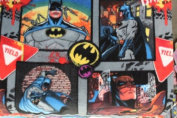 Batman in Action Fleece Fabric 150cm Width By the Yard