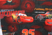 Cars Lightning Mcqueen Fleece Fabric 150cm Width By the Yard