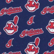 Licenced MLB Cleveland Indians - FLEECE, 150cm Wide By the Yard