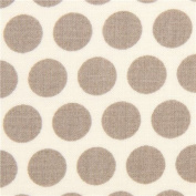 ecru birch organic fabric from the USA with grey dots