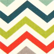 colourful chevron pattern organic knit fabric birch USA
